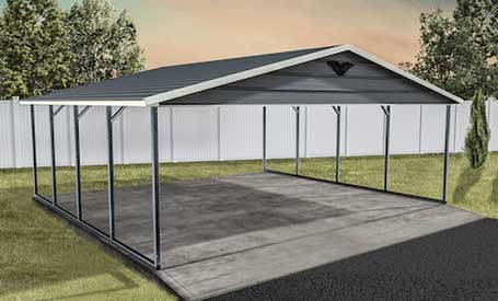A-Frame Metal Carports