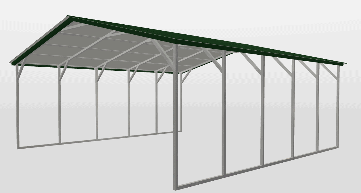 metalcarportscom-vertical-roof-single-carport