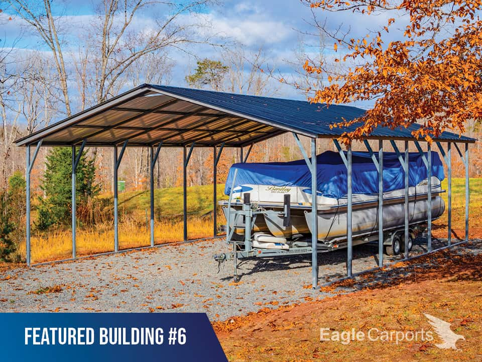 24x30x9 Vertical Roof Metal Carport