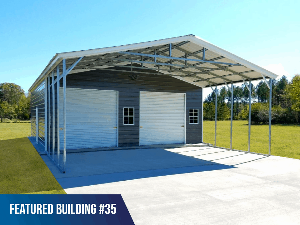 30x50x9 Vertical Roof Combo