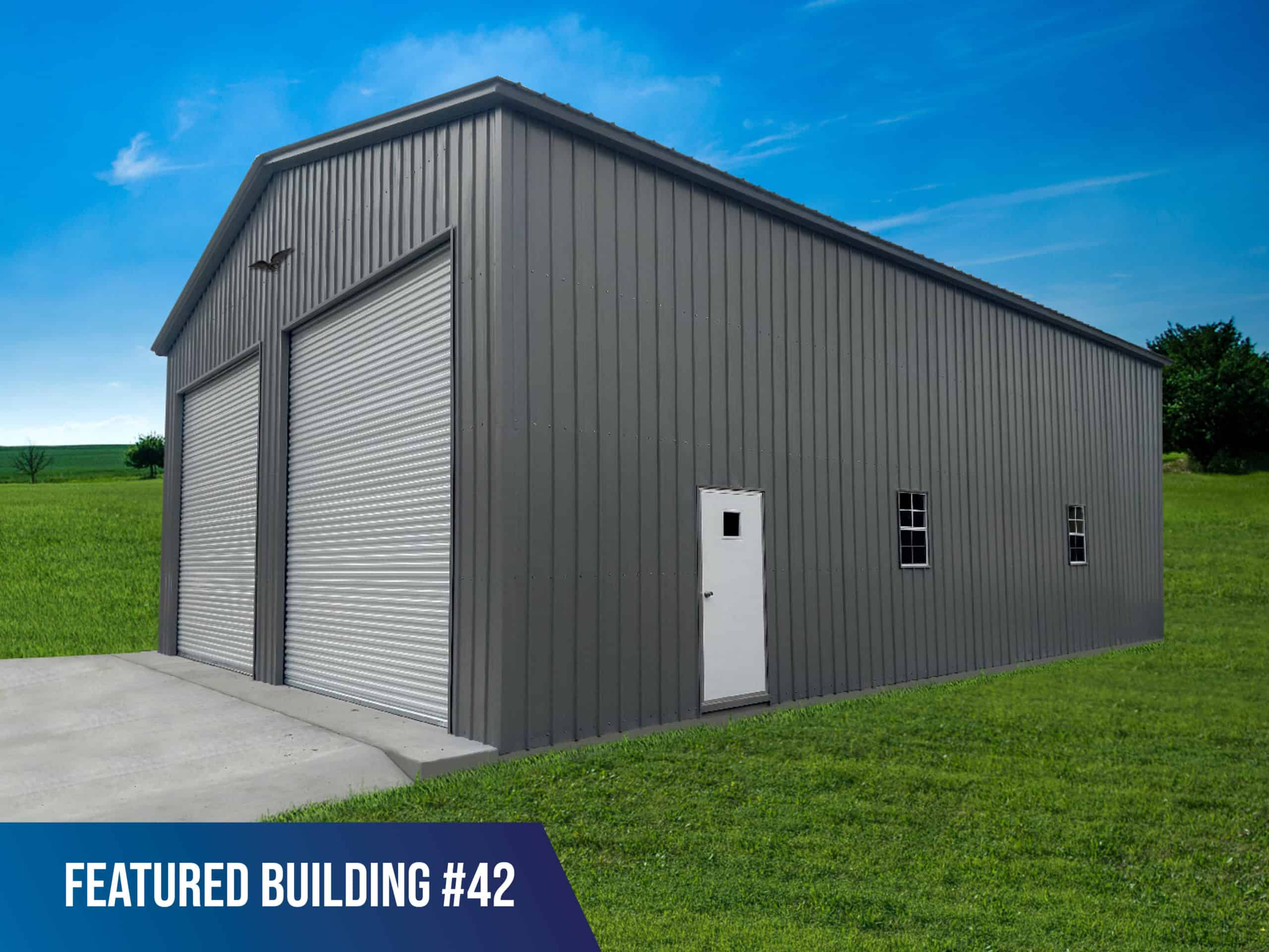 36x45x16 Vertical Roof Metal Commercial Building