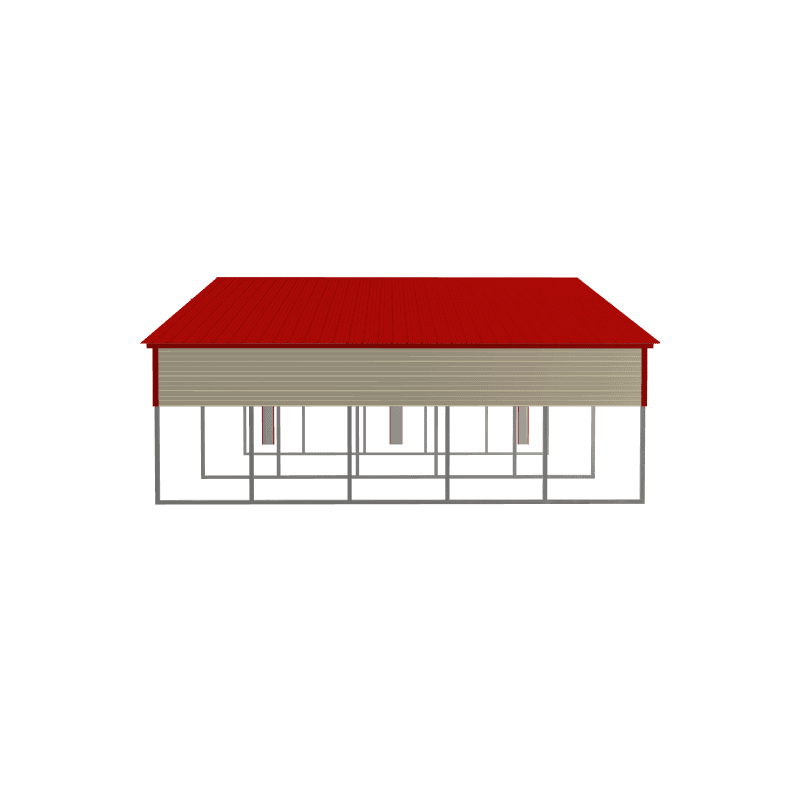 42x25x11/8 Vertical Roof Metal Barn