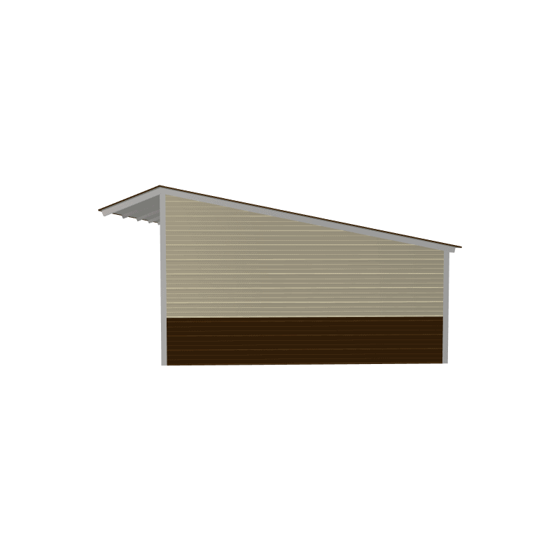 15x30x9/6 Vertical Roof Loafing Shed