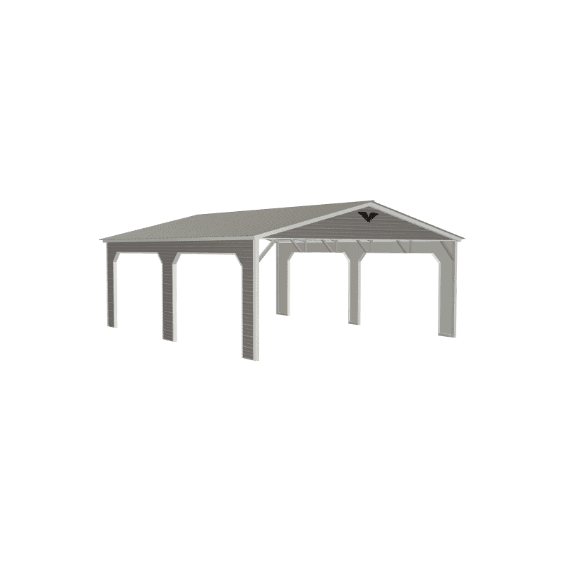 20x25x8 Vertical Roof Metal Carport