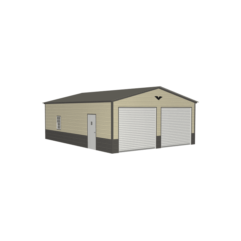 22x30x9 Vertical Roof Metal Garage