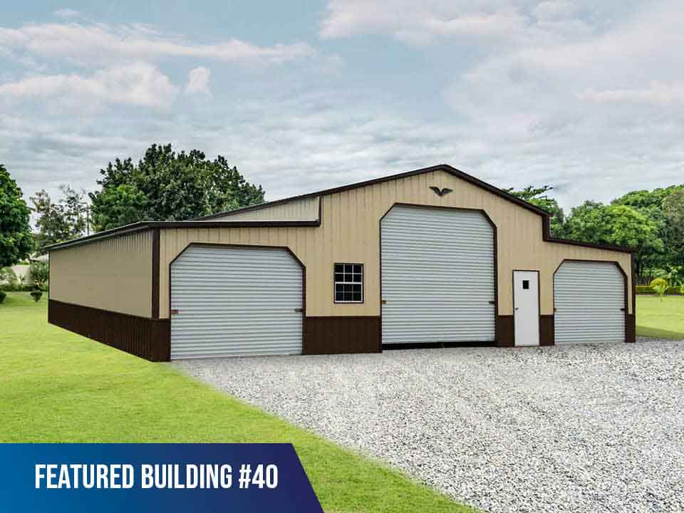 48x50x13/9 Vertical Roof Metal Horse Barn