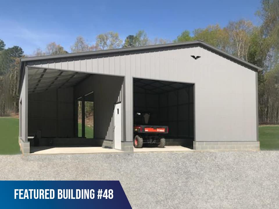 36x40x12/9 Vertical Roof Agricultural Building